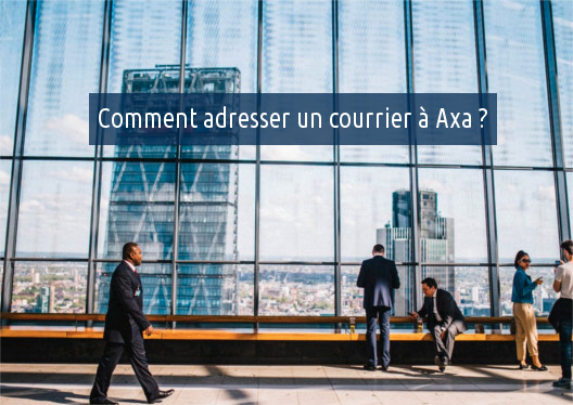avoyer une lettre à Axa
